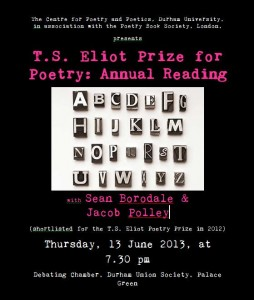Durham Prize Reading Poster