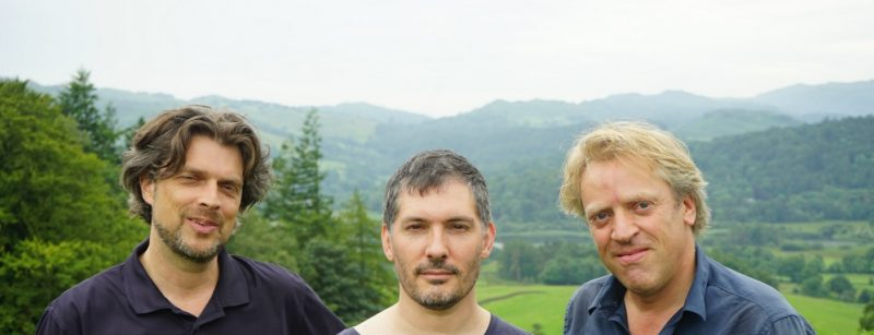 Strijbos & van Rijswijk with poet Jacob Polley (centre) at Grasmere